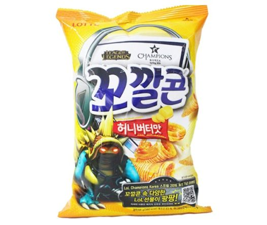 Lotte [FOOD] Honey Butter Corn Chip 66gr 1 jop01